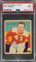 Football Cards:Singles (Pre-1950), 1935 National Chicle Phil Sorboe #14 PSA Mint 9 - Pop Two, None Higher....