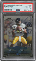 Football Cards:Singles (1970-Now), 2000 Playoff Prestige Tom Brady (Missing Gold Foil) #286 PSA EX-MT 6 - Numbered 690/2500....