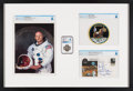 Explorers:Space Exploration, Apollo 11: Deluxe Framed Presentation including a Flown Silver Robbins Medallion MS66 NGC, a Crew-Signed Insurance Cover, a Ne...