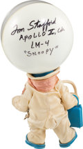 """Explorers:Space Exploration, Apollo 10: Original """"Snoopy Astronaut"""" Doll Signed by Mission Commander Tom Stafford, with Box. ..."""