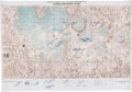 Explorers:Space Exploration, NASA Lunar Earthside Chart (LMP-1) Signed by Thirteen Apollo Astronauts including Six Moonwalkers, All with Added Mission Numb...