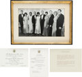 Explorers:Space Exploration, Apollo 11 State Dinner, August 13, 1969: Presidential Invitation, Dinner Menu, and Official Portrait from the Collection o...