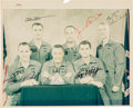 """Explorers:Space Exploration, Apollo 1 Primary and Backup Crews-Signed Original NASA """"Red Number"""" Color Photo with Steve Zarelli Letter of Authenticity. ..."""