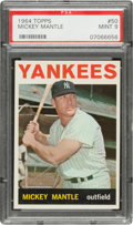 Baseball Cards:Singles (1960-1969), 1964 Topps Mickey Mantle #50 PSA Mint 9 - Only One Higher....