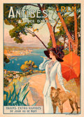 """Movie Posters:Miscellaneous, Antibes Cote d'Azur (P.L.M., c. 1910). Very Fine on Linen. French Travel Poster (30.25"""" X 42"""") David Dellepiane Artwork.. ..."""