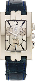 Timepieces:Wristwatch, Harry Winston, Avenue C 18k White Gold Chronograph, Full Set. ...