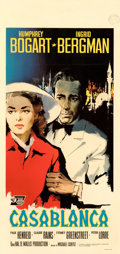 "Movie Posters:Academy Award Winners, Casablanca (Warner Bros., R-1962). Fine/Very Fine on Linen. Italian Locandina (13"" X 37.75"") Silvano ""Nano"" Campeggi Artwork..."