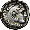 Ancients:Greek, Ancients: MACEDONIAN KINGDOM. Alexander III the Great (336-323 BC). AR drachm (16mm, 11h). NGC VF....
