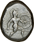 Ancients:Greek, Ancients: PAMPHYLIA. Aspendus. Ca. mid-5th century BC. AR stater (22mm, 1h). NGC VF....