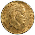 France: Napoleon III gold 5 Francs 1866-A MS64 PCGS