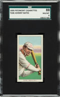 Baseball Cards:Singles (Pre-1930), 1909-11 T206 Piedmont Johnny Bates SGC 88 NM/MT 8 - The Ultimate SGC Graded Example!...