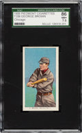 Baseball Cards:Singles (Pre-1930), 1909-11 T206 Piedmont George Brown (Chicago) SGC 86 NM+ 7.5 - Pop Two, None Higher....