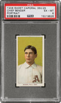 Baseball Cards:Singles (Pre-1930), 1909-11 T206 Sweet Caporal 350/25 Chief Bender (Portrait) PSA EX-MT 6....