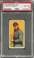 Baseball Cards:Singles (Pre-1930), 1909-11 T206 Piedmont 350 Chappie Charles PSA NM-MT 8 - Only One Higher....