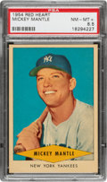 Baseball Cards:Singles (1950-1959), 1954 Red Heart Mickey Mantle PSA NM-MT+ 8.5....