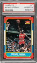 Basketball Cards:Singles (1980-Now), 1986 Fleer Michael Jordan #57 PSA Gem Mint 10....
