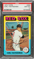 Baseball Cards:Singles (1970-Now), 1975 Topps Carl Yastrzemski #280 PSA Gem Mint 10....