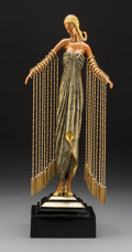 Sculpture, Erté Cold Painted Bronze Zobeide Sculpture, circa 1990. Marks: Erté, 1990, CHALK & VERMILLION AND SEVENARTS, 6...