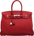 Luxury Accessories:Bags, Hermès 35cm Natural Epsom Leather Birkin Bag with Gold Ha...
