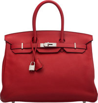 Hermès 35cm Natural Epsom Leather Birkin Bag with Gold Hardware Q Square, 2013 Condition: 3</
