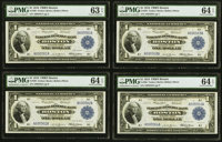 Fr. 708 $1 1918 Federal Reserve Bank Notes Cut Sheet of Four