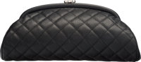 "Chanel Black Quilted Caviar Leather Timeless Clutch Condition: 2 11"" Width x 6"" Height x 1"" Depth"
