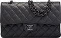 Luxury Accessories:Bags, Chanel So Black Aged Lambskin Leather Medium Double Flap B...