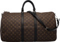 "Louis Vuitton Monogram Macassar Coated Canvas Keepall Bandouliere 55 Condition: 2 22"" Width x 12"""