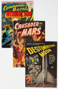 Golden Age (1938-1955):Science Fiction, Golden Age Science Fiction Comics Group of 3 (Various Publishers, 1950-55) Condition: Average VG.... (Total: 3 Comic Books)