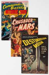 Golden Age Science Fiction Comics Group of 3 (Various Publishers, 1950-55) Condition: Average VG.... (Total: 3 Comic Boo...