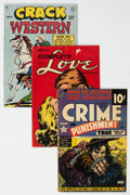 Golden Age (1938-1955):Miscellaneous, Golden and Silver Age Comics Group of 8 (Various Publishers, 1947-58) Condition: Average VG-.... (Total: 8 Comic Books)