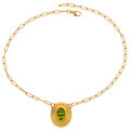 Estate Jewelry:Necklaces, Peridot, Gold Necklace, Gurhan. ...