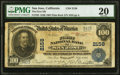 San Jose, CA - $100 1902 Plain Back Fr. 703 The First National Bank Ch. # 2158 PMG Very Fine 20