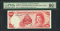 Cayman Islands Currency Board 10 Dollars 1971 (ND 1972) Pick 3 PMG Gem Uncirculated 66 EPQ