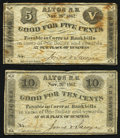 Obsoletes By State:New Hampshire, Alton, NH- Jones & Sawyer 5¢; 10¢ Nov. 26, 1862 Very Good or Better.. ... (Total: 2 notes)
