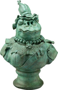 David James Gilhooly (1943-2013) Frog Queen Victoria, 1989 Painted bronze 17 x 13 x 9 inches (43.2 x 33.0 x 22.9 cm)