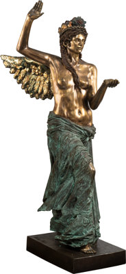 Audrey Flack (b. 1931) Islandia, Goddess of the Healing Waters, 1988 Gilded bronze with patina 66