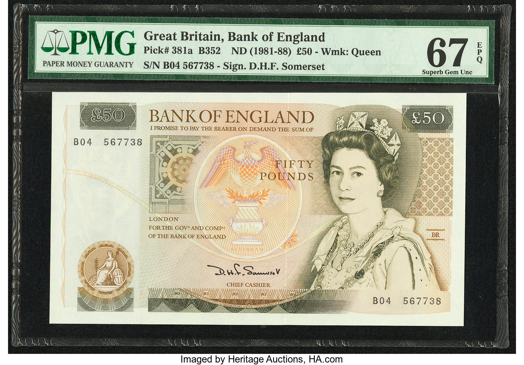 Great Britain Bank Of England 50 Pounds
