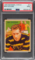 Football Cards:Singles (Pre-1950), 1935 National Chicle Ben Ciccone #15 PSA Mint 9 - Pop Four, None Higher....