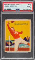 Football Cards:Singles (Pre-1950), 1935 National Chicle Homer Griffiths #13 PSA Mint 9 - Pop Three, None Higher....
