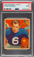 Football Cards:Singles (Pre-1950), 1935 National Chicle Glenn Presnell #5 PSA Mint 9 - Pop Three, None Higher....