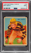 Football Cards:Singles (Pre-1950), 1935 National Chicle Ben Smith #16 PSA Mint 9 - Pop Four, None Higher....
