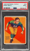 Football Cards:Singles (Pre-1950), 1935 National Chicle Ernie Smith #33 PSA Mint 9 - Pop Two, None Higher....