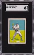 Baseball Cards:Singles (Pre-1930), 1911-14 D304 Brunners Bread Chief Meyers SGC EX/NM 6 - Pop One, None Higher....