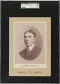 Baseball Cards:Singles (Pre-1930), 1902-11 W600 Sporting Life (Type 2) Fred Mitchell (Street Clothes) SGC 82 EX/NM+ 6.5 - The Only SGC Graded Example!...
