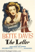 Movie Posters:Film Noir, The Letter (Warner Brothers, 1940)....