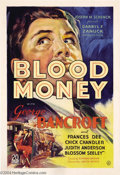 Movie Posters:Drama, Blood Money (United Artists, 1933)....
