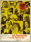 Movie Posters:Romance, A Man and A Woman (Les Films, 1966)....