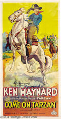 Movie Posters:Western, Come On, Tarzan (KBS, 1932)....