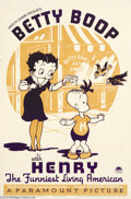 Movie Posters:Animated, Betty Boop with Henry (Paramount, 1935)....